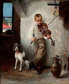 scent-of-me: 'A fiddler' / Wandalin Strzałecki, 1874.