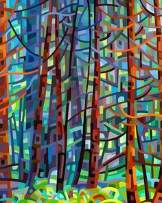 In A Pine Forest Print by Mandy Budan.  All prints are professionally printed, packaged, and shipped within 3 - 4 business days. Choose from multiple sizes and hundreds of frame and mat options.