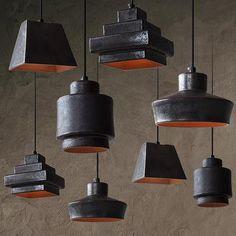 Tom Dixon Lustre Black Ceramic Pendant Light Replica