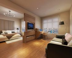 Tv möbel raumteiler drehbar  modernes design schlafzimmer wohnung grau raumteiler tv drehbar ...