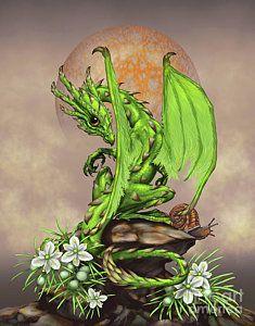 Dragon Digital Art - Asparagus Dragon by Stanley Morrison