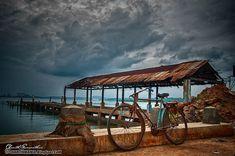 Bike at the pier, Trincomalee, Sri Lanka