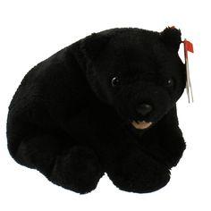 TY Beanie Baby - CINDERS the Bear (5 inch) 499386d2041b