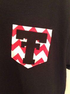 Texas Tech Black Front Pocket Tshirt Frocket by KatyTheFrocketLady, $15.00