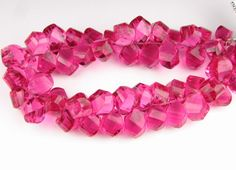 Unique Cut AAA Faceted Bubblegum Pink Finest by BeadingHeartCo