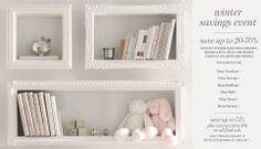 Semi ornate shadows box shelves for children's books and decor