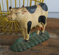 Hey, I found this really awesome Etsy listing at https://www.etsy.com/listing/220851752/cast-iron-cow-doorstop