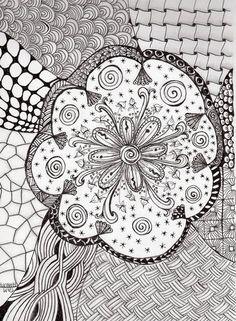 Zendala by tamhanley, blogged http://tangiebaxter.com/news/2011/09/14/art-journaling-101-finding-magic-in-the-circle-mandala/