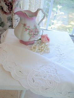 Tablecloth Small Battenburg Lace Tablecloth By Mailordervintage