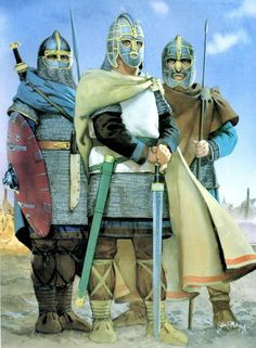 The Anglo-Saxon warriors were brutal warriors. Carrying barbed-spears that were over two meters long, these warriors would fight every battle like it was their last. Anglo Saxon History, British History, Ancient History, European History, Ancient Aliens, American History, Viking Warrior, Viking Age, Fantasy Art