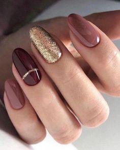 nail art designs with glitter ~ nail art designs ; nail art designs for winter ; nail art designs for spring ; nail art designs with glitter ; nail art designs with rhinestones Classy Nail Art, Trendy Nail Art, Cool Nail Art, Classy Gel Nails, Best Nail Art Designs, Acrylic Nail Designs, Classy Nail Designs, Simple Designs, Winter Nail Designs