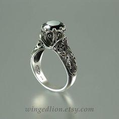 El anillo de compromiso oro ENCHANTED PRINCESS Black por WingedLion
