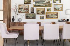 """We're """"Blushing"""" at this Emily Henderson Dining Room Design"""