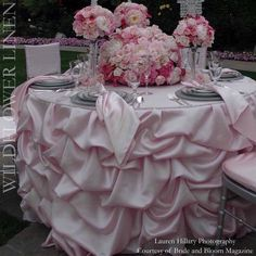 pink and gold table settings - Google Search