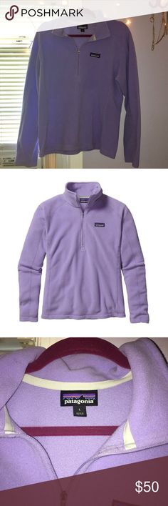 Lavender Patagonia Fleece 1/3 zip Lavender patagonia fleece size L. Excellent condition Patagonia Sweaters
