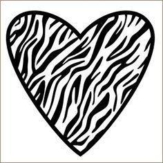 Zebra Print Hearts