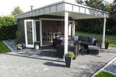 Flachdach gartenhaus modell quinta iso schleppdach pultdach