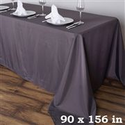 x Polyester Rectangular Tablecloth - Charcoal Grey Tablecloths For Sale, Wedding Tablecloths, Wedding Linens, Flower Table Decorations, Wedding Reception Table Decorations, Christmas Table Decorations, Birthday Party Halls, Banquet Tables, Party Tables