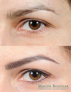 Makijaż permanentny oczu i brwi.