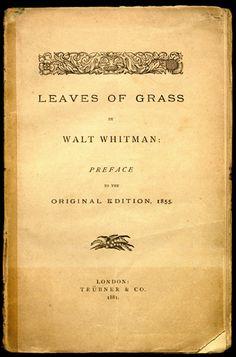 Folhas de Relva, de Walt Whitman