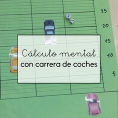 El cálculo mental con carrera de coches ayuda a los niños a desarrollar su cálculo mental.
