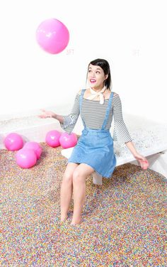 SPRINKLE POOL!!!! At the Museum of Ice Cream in NYC