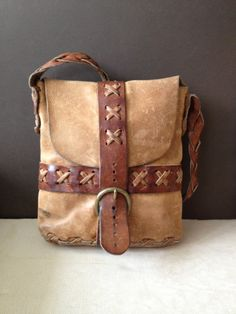 Vtg Distressed // Artisan Handcrafted Leather от JansVintageStuff