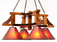Chandelier Barnwood by Woodland Creek Furniture.