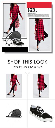 """Red and black fashion"" by aminkicakloko ❤ liked on Polyvore featuring Vans"