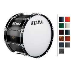 Tama Marching Bubinga/ Birch Bass Drum Titanium Silver Metallic 14x26