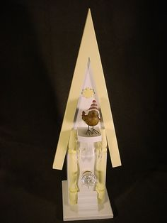 Birdhouse with Victorian ceiling tin roof by Keatingwoodcraft, $95.00