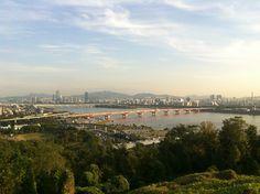 A glance at Han River @ Haneul Park (하늘공원)