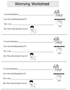 Printables Anxiety Worksheets For Children therapy worksheets children adolescents adults various topics i would like my older kids to do something this they are and think it could really help them learn how handle their wor