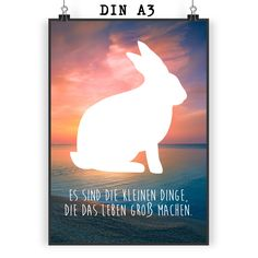 Poster DIN A3 Hase aus Papier 160 Gramm  weiß - Das Original von Mr. & Mrs. Panda.  Jedes wunderschöne Motiv auf unseren Postern aus dem Hause Mr. & Mrs. Panda wird mit viel Liebe von Mrs. Panda handgezeichnet und entworfen.  Unsere Poster werden mit sehr hochwertigen Tinten gedruckt und sind 40 Jahre UV-Lichtbeständig und auch für Kinderzimmer absolut unbedenklich. Dein Poster wird sicher verpackt per Post geliefert.    Über unser Motiv Hase  Hasen sind bei Kindern sehr beliebte Haustiere…