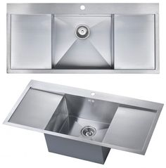 The 1810 Company ZENUNO DEEP Single Bowl Kitchen Sink With Double Drainer