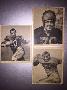 Frank Seno / Michael 'Mike' Micka / Jack Wiley 1948 Football Cards - Good Cond.