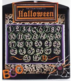 Count down to Halloween with this advent calendar!  What a cute idea!