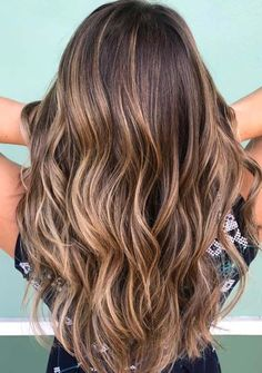 Here you may find the stunning trends of brown sugar hair colors and highlights a long with long waves haircuts. This gorgeous hair color looks like the brunette highlights. You can say this is one of the newest and modern style of hair colors to show off in 2018.