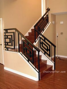 Custom Wood and Iron Staircase, steel emsupply.com, staircrafter.com