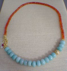Amazonite Off Center Necklace by gwensofferjewelry on Etsy, $75.00