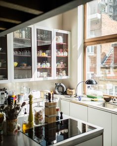 The kitchen in the house of Arthur Donck and Astrid Van Parys, Brussels Belgium.