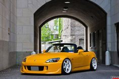Honda S2000 on Volk TE37s...still got TE37 <3 and my dog is named after those rims!!!