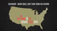 WATCH: It's ridiculous how much Colorado's Mark Udall is trying to distance himself from his friend Obama.