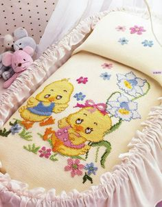 Baby Cross Stitch Patterns, Cross Stitch Baby, Cross Stitch Animals, Modern Cross Stitch, Cross Stitch Charts, Baby Patterns, Embroidery Stitches, Hand Embroidery, Embroidery Designs