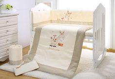 99.00$  Watch now  - Promotion! 7PCS embroidered cot baby bumper set 100% cotton crib bedding set for newborn cute c,(2bumper+duvet+sheet+pillow)
