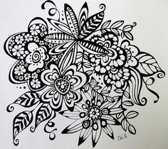 flower doodles by woolly  fabulous, via Flickr