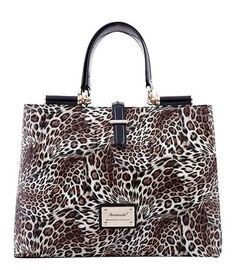 Serenade Golden Leopard Yellow Patent Leather Tote. SH52-0651. 77529cce41793