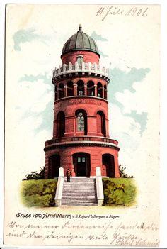 Gruss vom Arndtturm AK 1901 Bergen Rügen