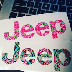 Lilly Pulitzer Jeep Emblem Decals! Customizable to fit any Jeep! Lots of patterns and colors available! Decaldesires.Etsy.com