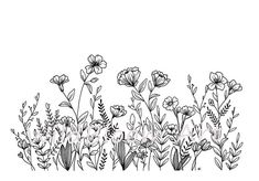 25 Easy Doodle Art Drawing Ideas For Your Bullet Journal - Brighter Craft Botanical Line Drawing, Floral Drawing, Drawing Flowers, Simple Flower Drawing, Flower Pattern Drawing, Flower Drawings, Botanical Drawings, Ink Pen Drawings, Drawing Sketches